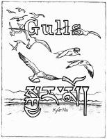 Gulls, Tibetan, 2010; Etching, coloring book page