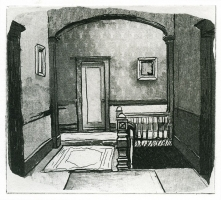 Silent Top of Stairs, 2000; Photo Etching