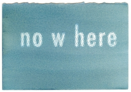 no w here, 2009; Gum bichromate print