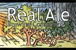 Real Ale Brewing Company Lino Logo, 2009; Linoleum block print and watercolor