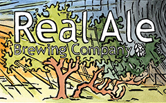 Real Ale Brewing Company Lino Logo, 2009; Linoleum block print and watercolor