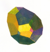 Fourteen No. 3, 2011; Watercolor on paper