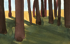 Trees for Brad, 2007; Watercolor on paper